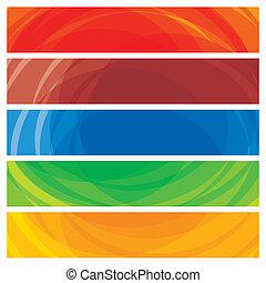 Abstrakte künstlerische farbenfrohe Sammlung von Transparenten Mustern, Vektorgrafik. Diese Illustration besteht aus Streifen bunter Webseiten und Präsentationsleitern