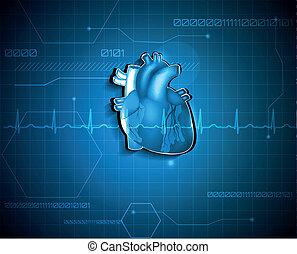 Abstrakte Kardiologie. Medizinisches Technologiekonzept.