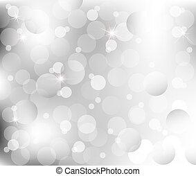 Abstrakte Lichter auf grauem Silberrücken