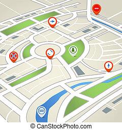 Abstrakte Stadtkarte.