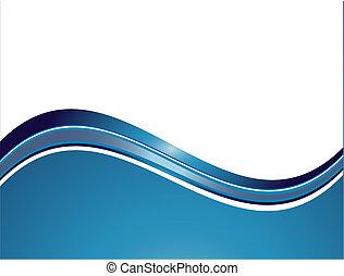 Abstrakte Wellen.