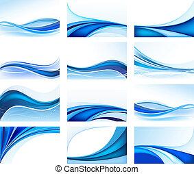 Abstrakter blauer Hintergrundvektor