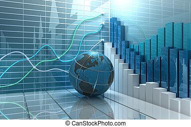 Abstrakter Hintergrund der Börse