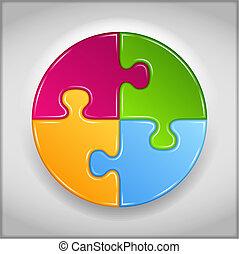 Abstrakter Kreis aus Puzzlestücken