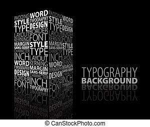 abstraktes design, typographie, hintergrund