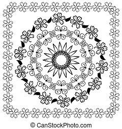 Abstraktes floral arabesque Muster