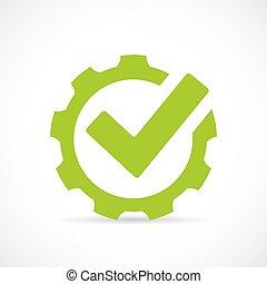 Abstraktes technisches Vektor-Icon.