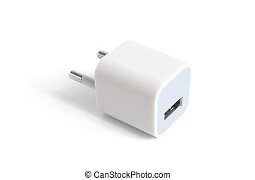 adapter, elektrisch, usb, hafen