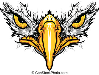 Adleraugen und Schnabelvektor illustriert