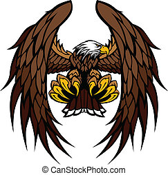 Adlerflügel und Klauen Maskottchenvektor