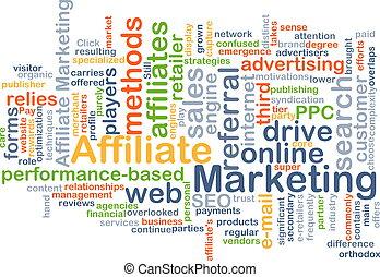 Affiliate Marketing Hintergrundkonzept.