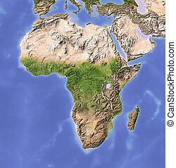 Afrika, abgeschirmte Landkarte