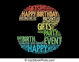 Alles Gute zum dritten Geburtstag.