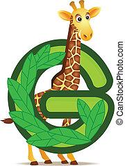 alphabet, giraffe, g