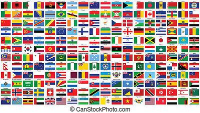Alphabetische Weltflaggen