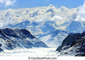 alps, gletscher, schweiz, aletsch