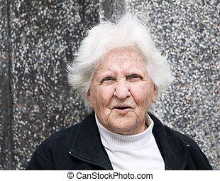 alte dame, porträt