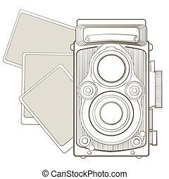 alte kamera, vignette, foto