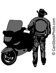 Alter Motorradfahrer.