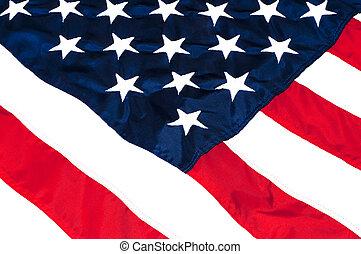 Amerikanische Flagge schließen