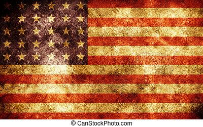amerikanische , grunge, fahne, hintergrund