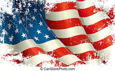 amerikanische , grunge, fahne