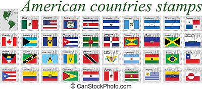 Amerikanische Länder Stempel.
