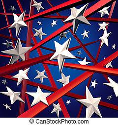 Amerikanische Stars und Streifen.