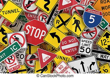 Amerikanische Verkehrszeichen