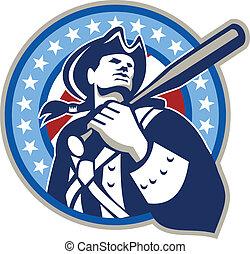 Amerikanischer Patriot Baseballschläger Retro.