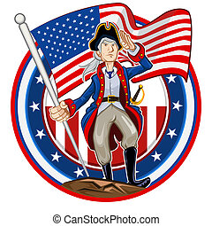Amerikanisches Patriot Emblem.
