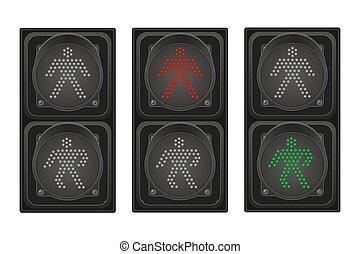 Ampel für Fußgänger vektorgrafik.