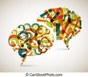 Anfragen und Antworten - abstrakte Illustration