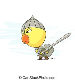 Angry Chicken Krieger.
