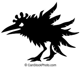 Angry Chicken Silhouette.