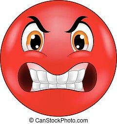 Angry Smiley Emoticon-Cartoon.