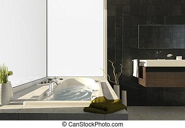 ansichten, 2, badewanne