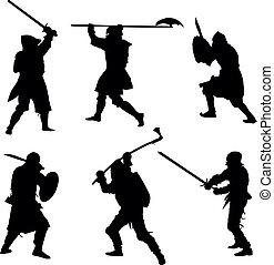 Antike Krieger sind bereit
