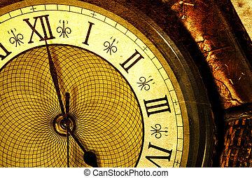 Antike Uhr.