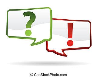 antwort, frage, zeichen & schilder