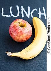 Apfel und Banane