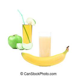 Apfel und Bananensaft