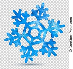 aquarell, snowflake.