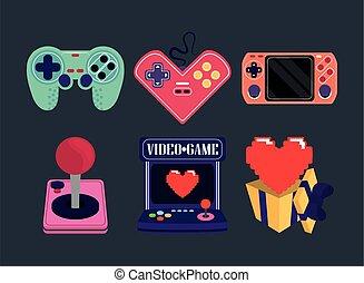 arkade, videospiel, steuerung