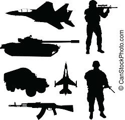 Armee-Silhouette