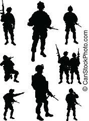 Armeesoldaten.