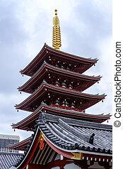 asakusa, pagode, tempel