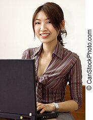 Asiatische Geschäfts- und Erziehungsfrauen