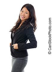 Asiatische Geschäftsfrau.