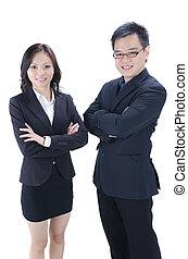 Asiatisches Geschäftsteam